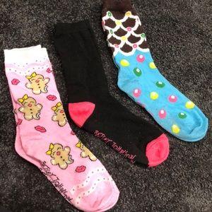 Trio of Socks BETSEY JOHNSON